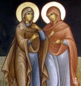 Жены-мироносицы. Праведные сёстры Марфа и Мария.