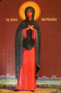 Апостолы Варфоломей и Варнава. Икона Мариамна святая праведная.
