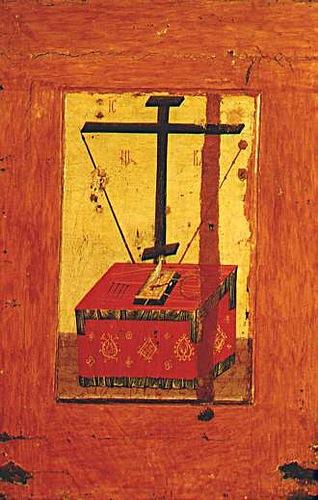 Владимирская икона Божией Матери. Престол уготованный. Оборот «Владимирской иконы Божьей матери»