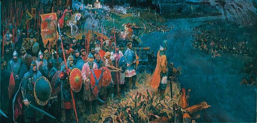 Владимирская икона Божией Матери. Стояние на р.Угре 11 ноября 1480 года.