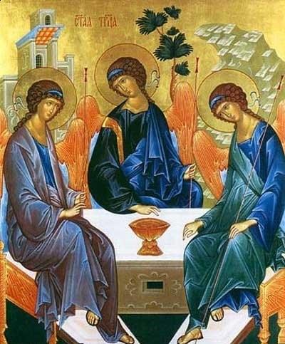 """Икона """"Пресвятая Троица"""" Андрея Рублёва. Огласительные беседы пред крещением."""
