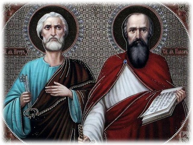 Петров пост. Первоверховные Апостолы Пётр и Павел