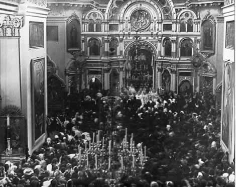 Святой праведный Иоанн Кронштадтский. Литургия в Андреевском соборе.