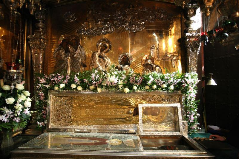 Преподобный Сергий Радонежский. Рака с мощами прп. Сергия Радонежского (Троицкий собор)