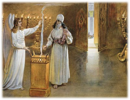 Рождество Пророка Предтечи и Крестителя Господня Иоанна. Явление ангела Захарии.