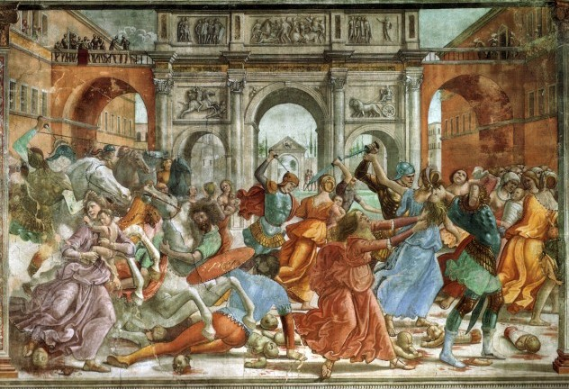 Рождество Пророка Предтечи и Крестителя Господня Иоанна. Доменико Гирландайо. Избиение младенцев. (Флоренция, Капелла Торнабуони,1486-90 гг).