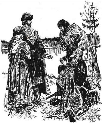 Святые Петр и Февронья. Пётр и Феврония возвращаются в Муром.