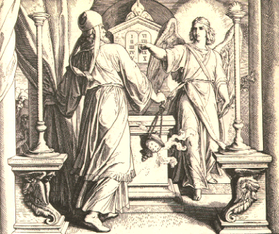 Собор Архангела Гавриила . Архангел Гавриил и Захария