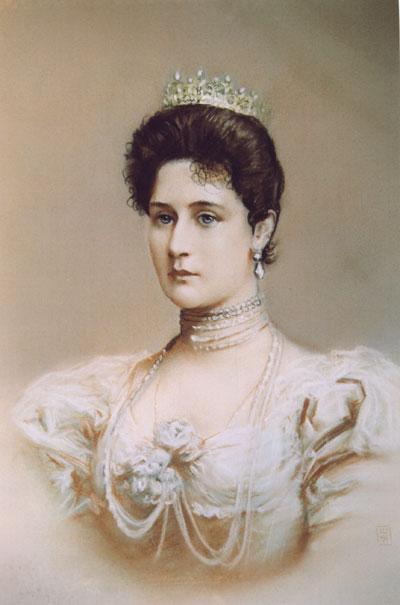 Страстотерпцы император Николай, императрица Александра со чадами. Александра Федоровна Романова (принцесса Шарлотта Прусская, супруга императора Николая - II.