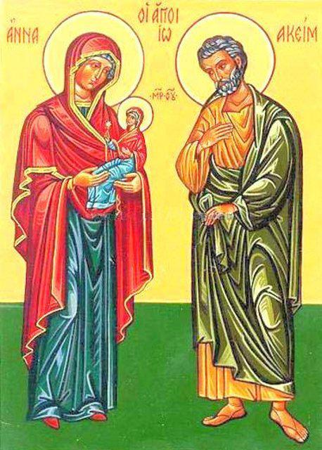 Праведные Иоаким и Анна, родители Пресвятой Богородицы