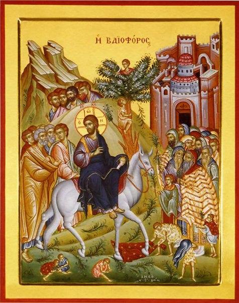 Двунадесятые праздники. Вход Господень в Иерусалим — (вербное воскресение)