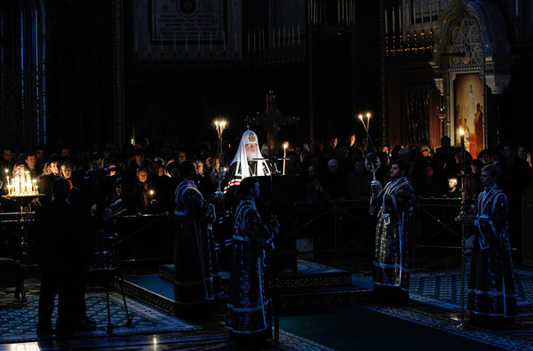 Великий Пост. Чтение канона Преподобного Андрея Критского.