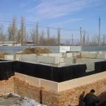 Утепление фундамента и обкладывание кирпичом. 17-25.11.2011