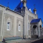 Отделка фасада храма. Осень 2014 года.