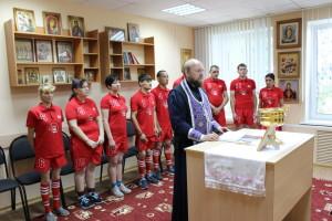 Перед поездкой на Спартакиаду в доме-интернате был отслужен молебен