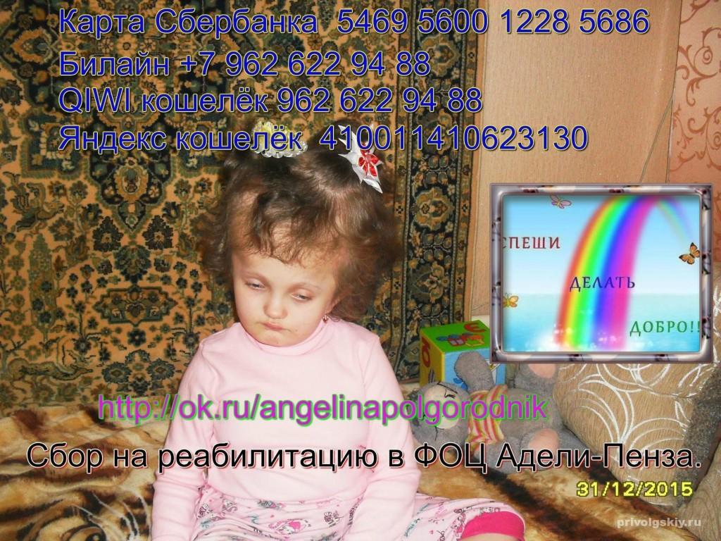 Ангелина просит Вас о помощи!