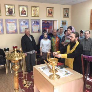 Настоятель храма Димитрий Попеко отслужил Божественную литургию в домовом храме дома-интерната для престарелых и инвалидов